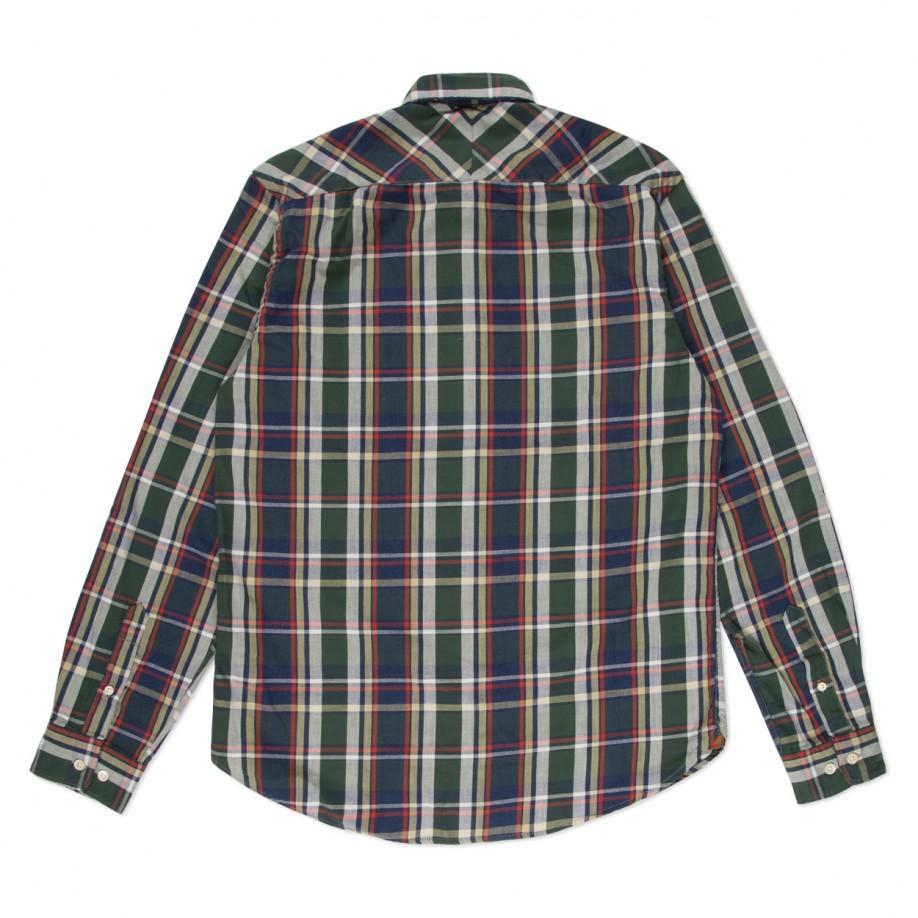 how to wear navy check shirt