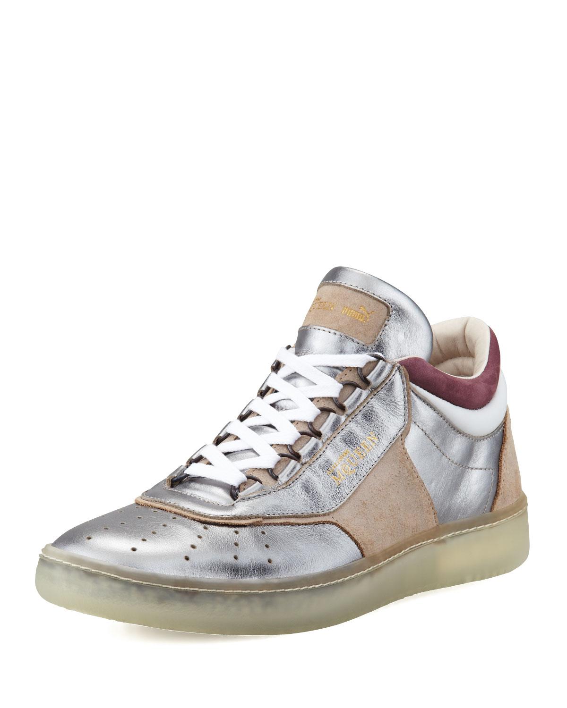 Lyst - Alexander McQueen X Puma Joust Iii Metallic Lotop Sneaker Silver in  Metallic 139d2b22b