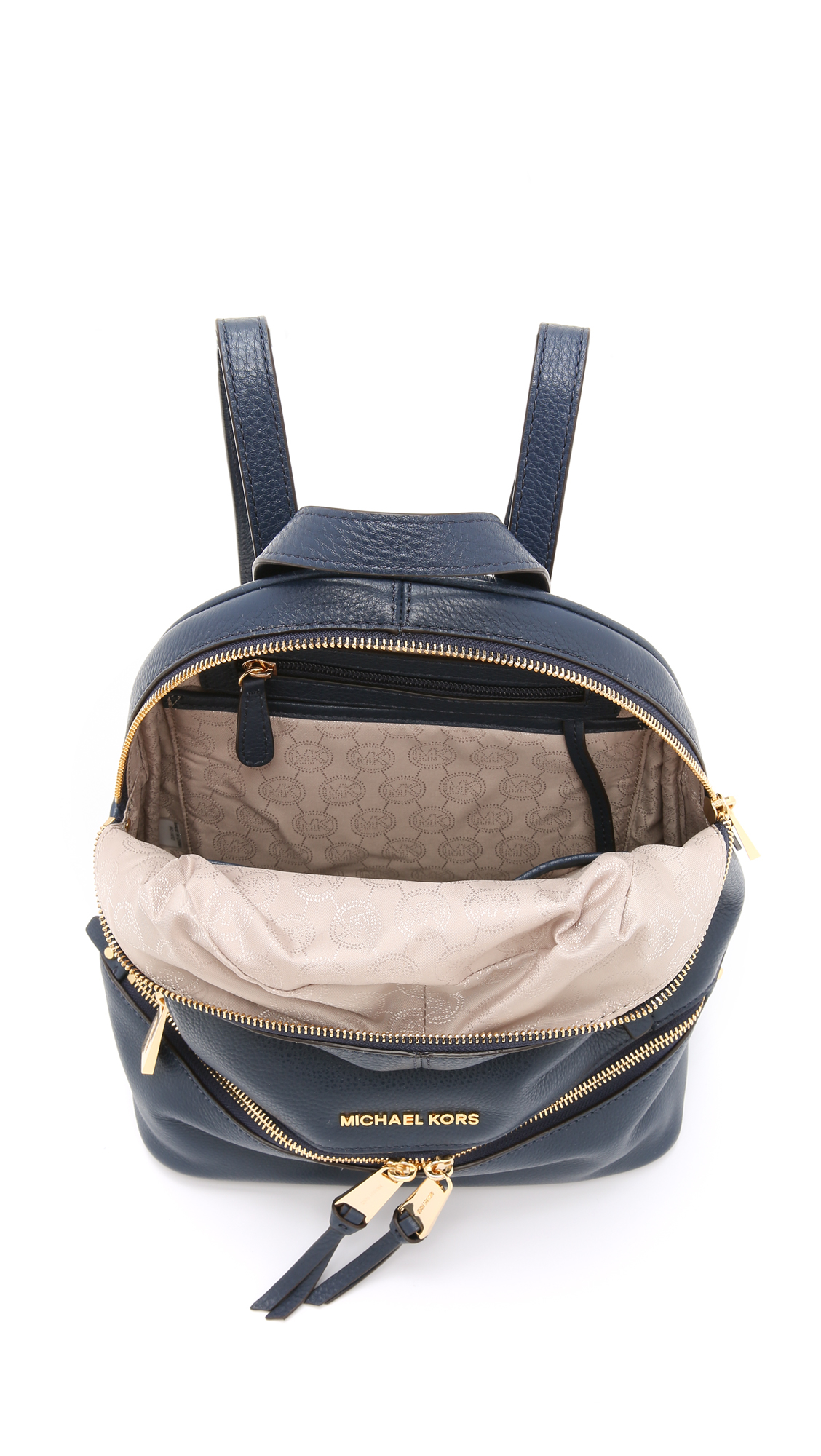 6263f64371a7 ... backpacks 6e6bd a3697; purchase michael michael kors rhea backpack navy  in blue lyst 846be 00713