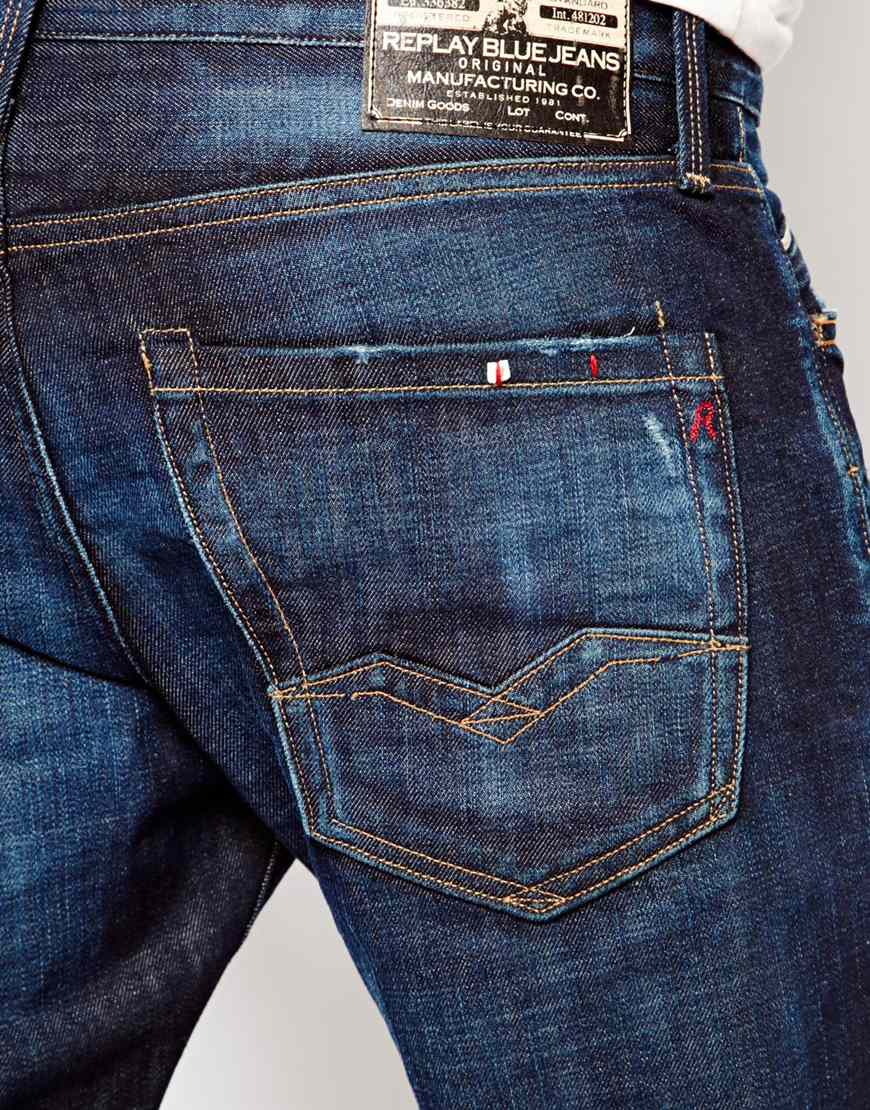 Lyst - Replay Straight Fit Jeans Waitom Barcelona Fc ...