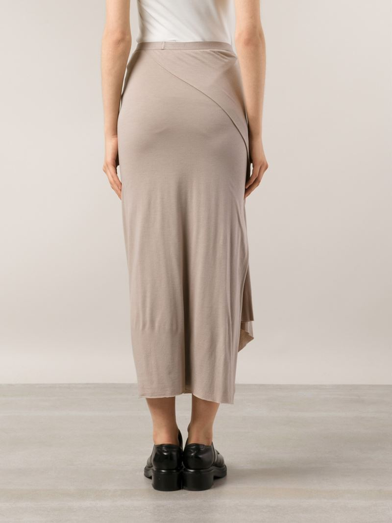 Buy Cheap For Sale Pictures For Sale Rick Owens asymmetric draped skirt ujaOY