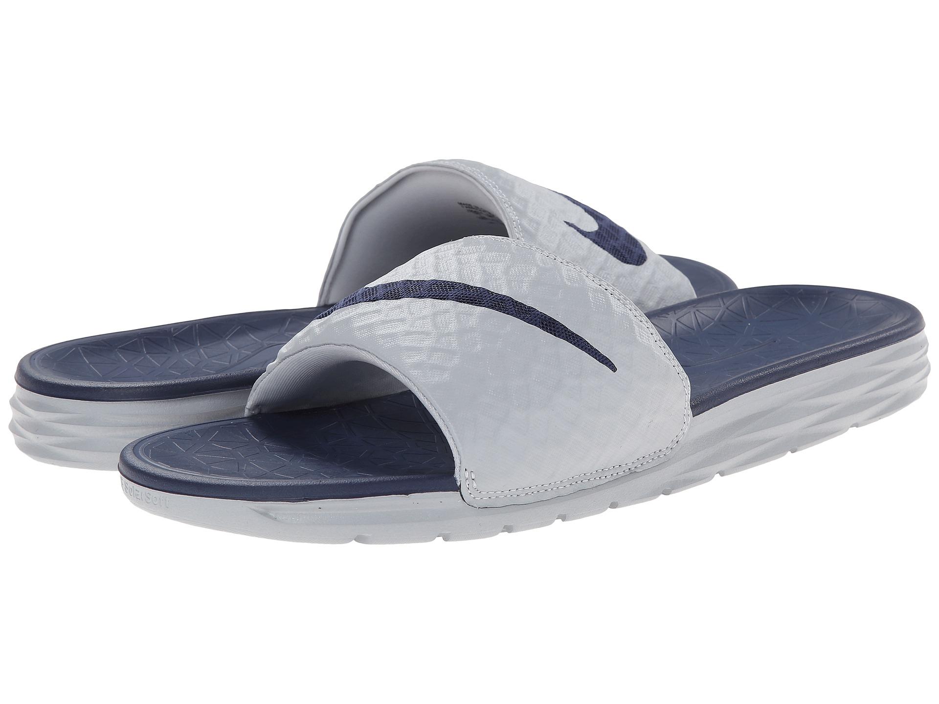 076d2309e099aa Lyst - Nike Benassi Solarsoft Slide 2 in Gray