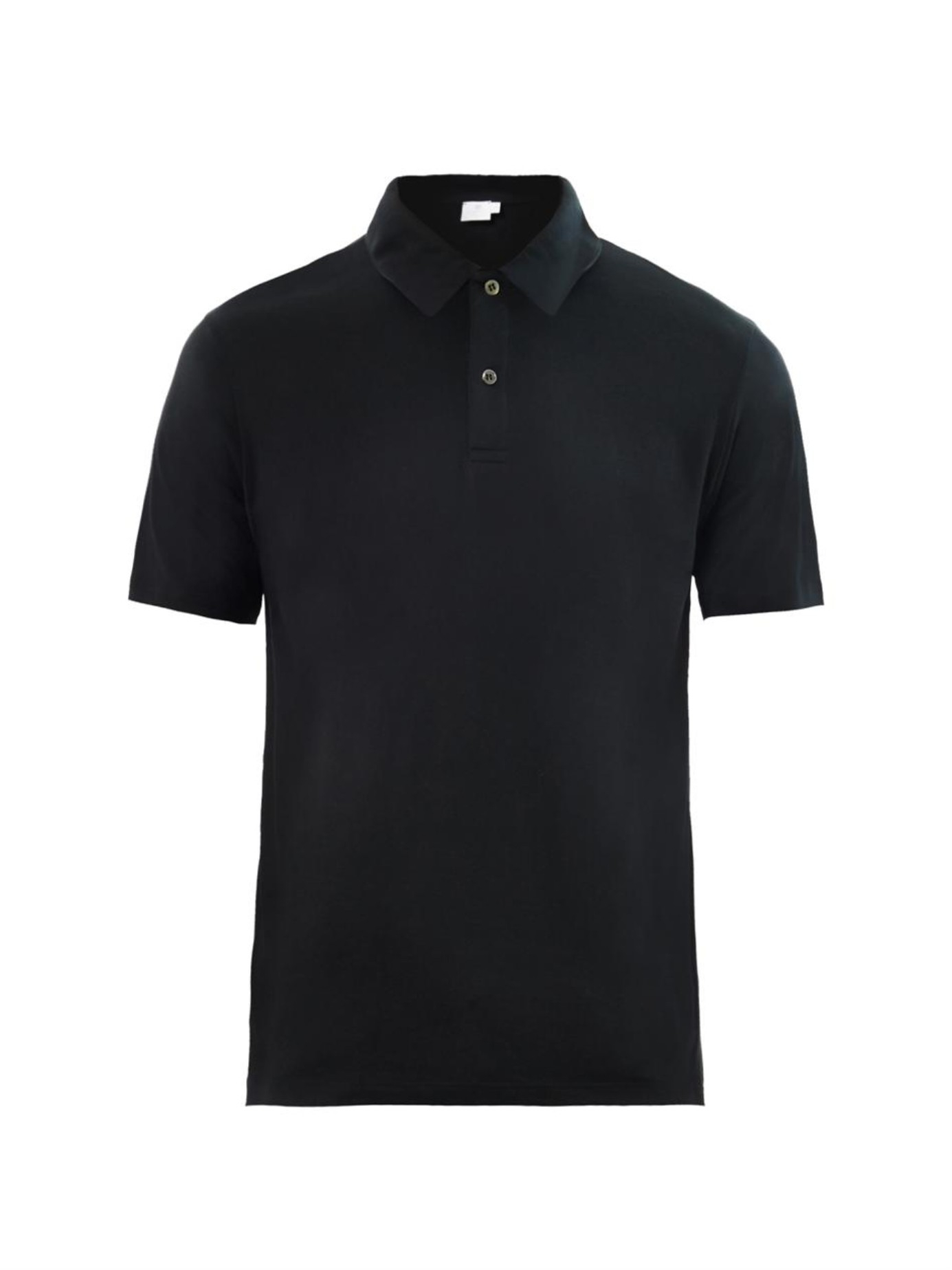 sunspel cotton jersey polo shirt in black for men lyst