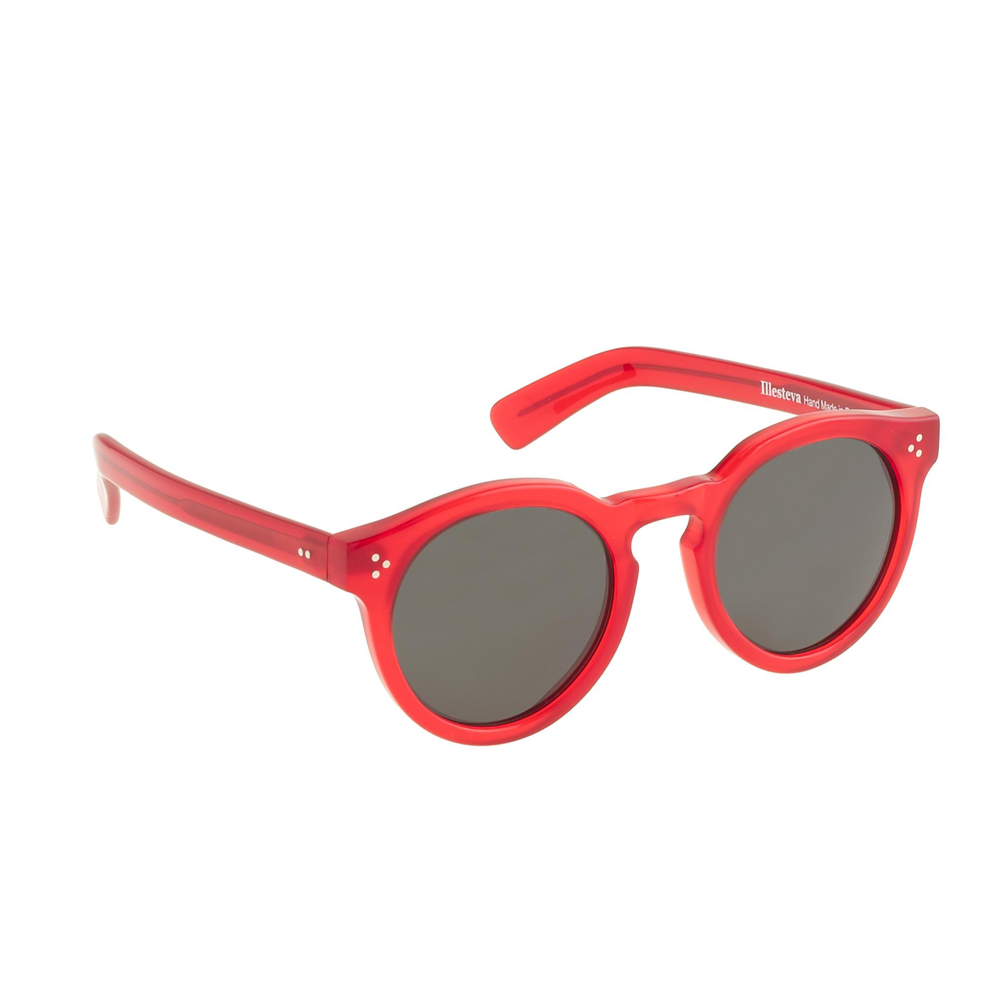 Red Sunglasses  j crew illesteva leonard ii red sunglasses in red lyst