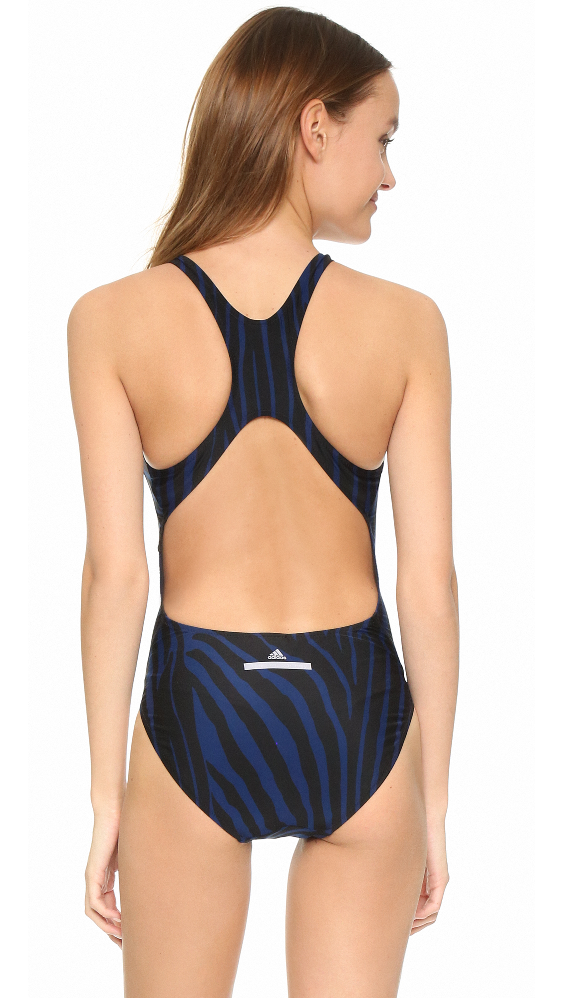 3bef46d011 adidas By Stella McCartney Performance Swimsuit in Blue - Lyst