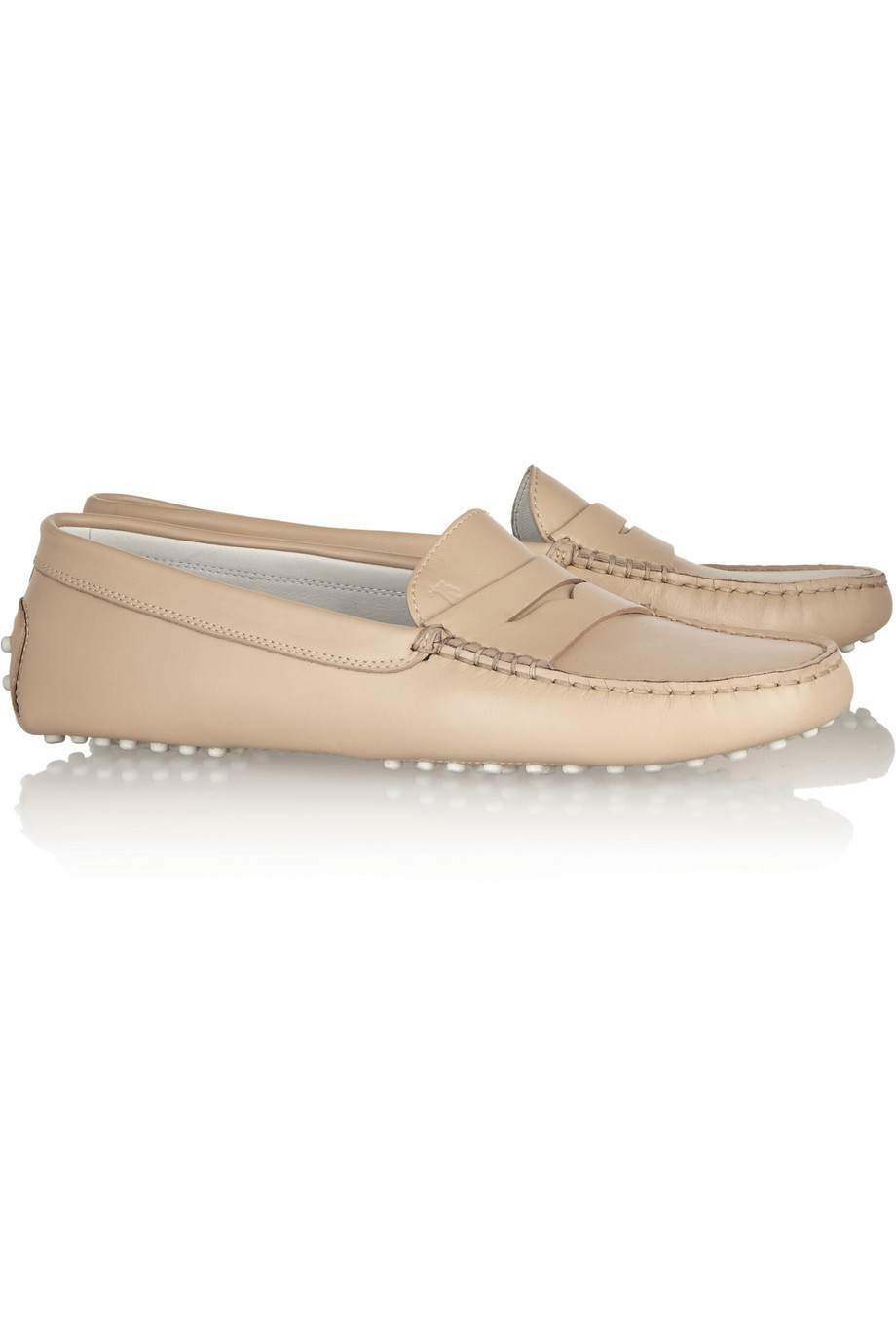 8f21e8d6010 Lyst - Tod s Gommino Leather Loafers in Natural