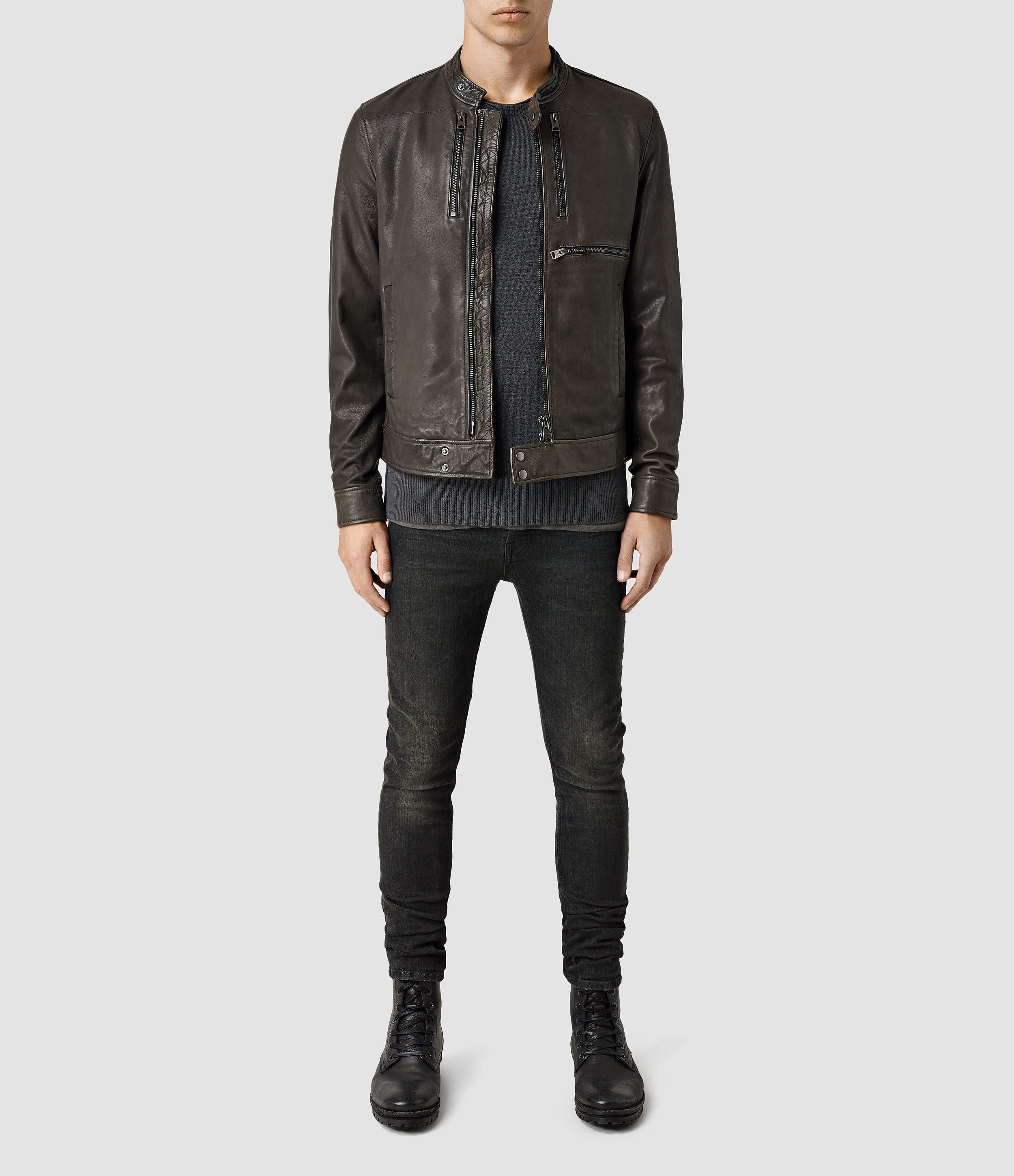 Mens leather jackets all saints