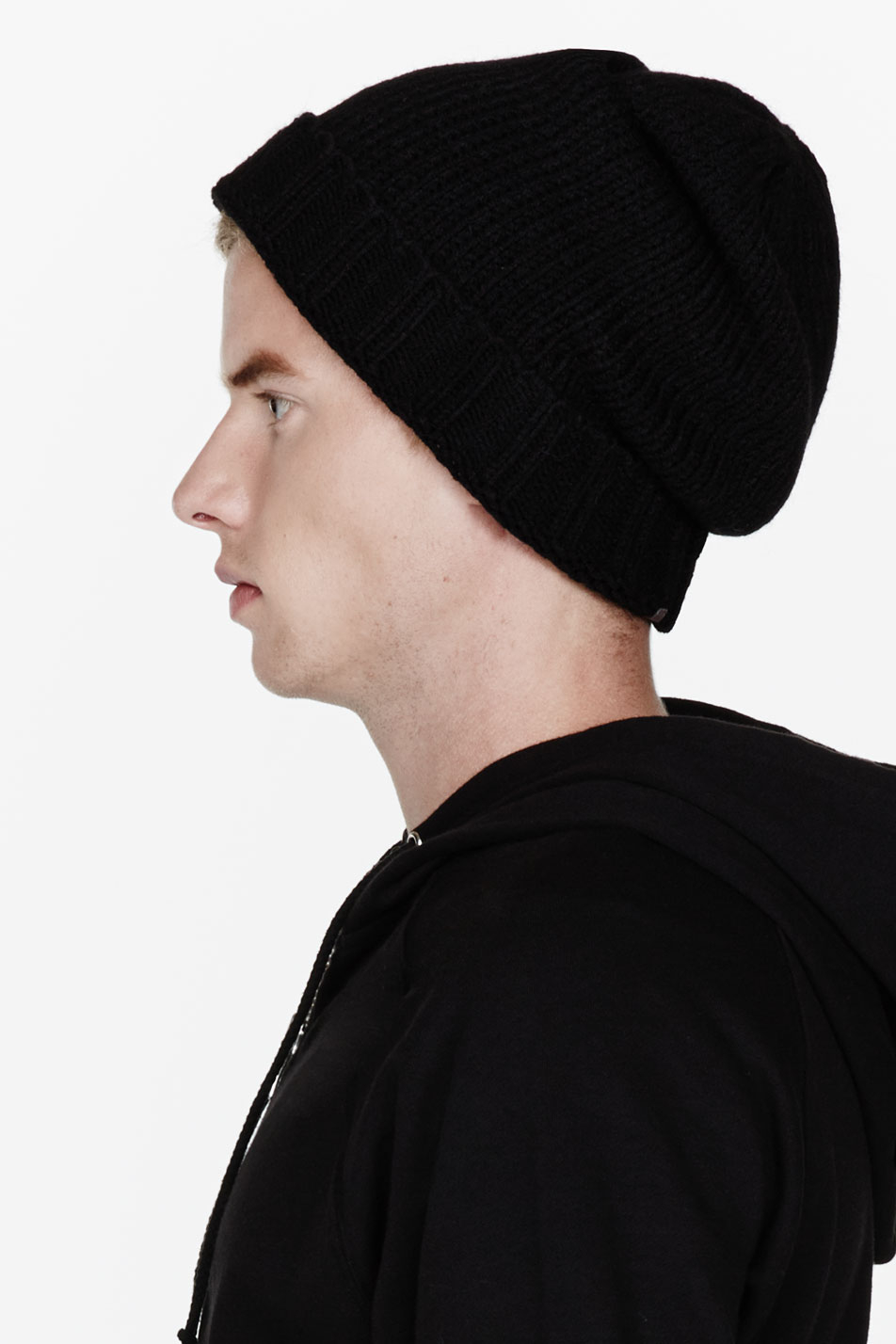 d29473bd39520 Rick Owens Black Alpaca merino Blend Knit Beanie in Black for Men - Lyst