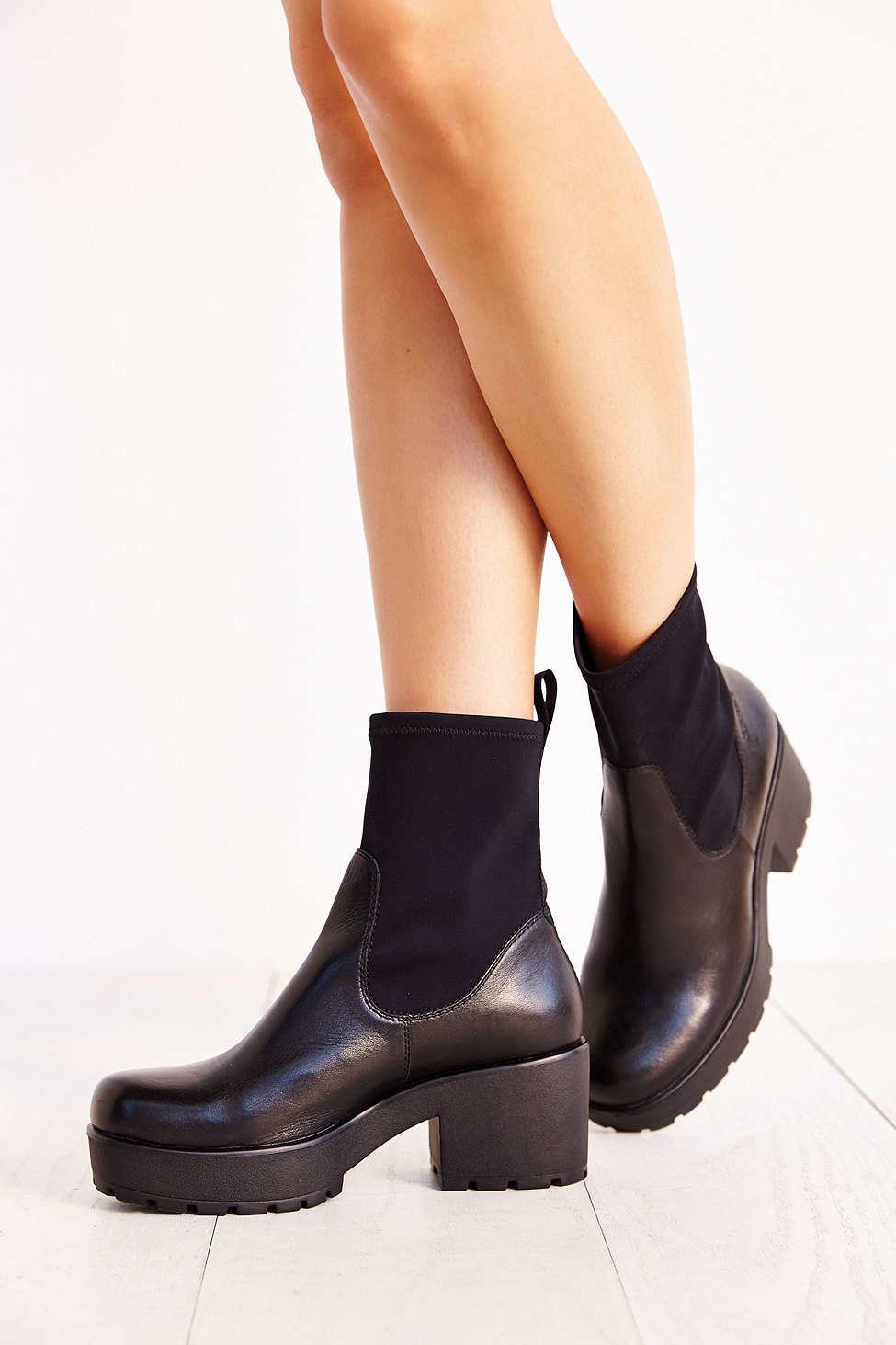 Vagabond Elastic Shoes Black Leather