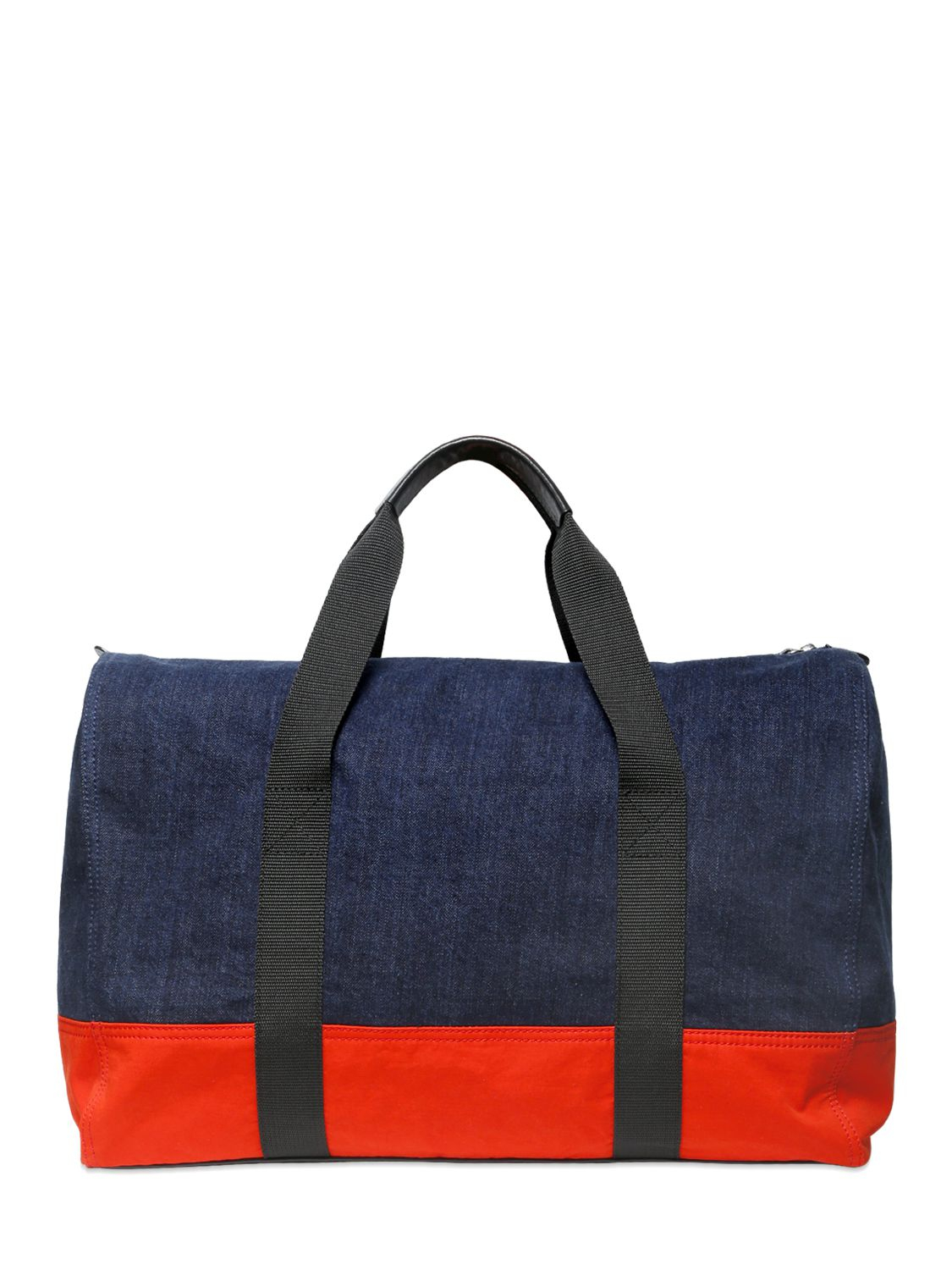 dsquared 178 denim duffle bag in blue for lyst