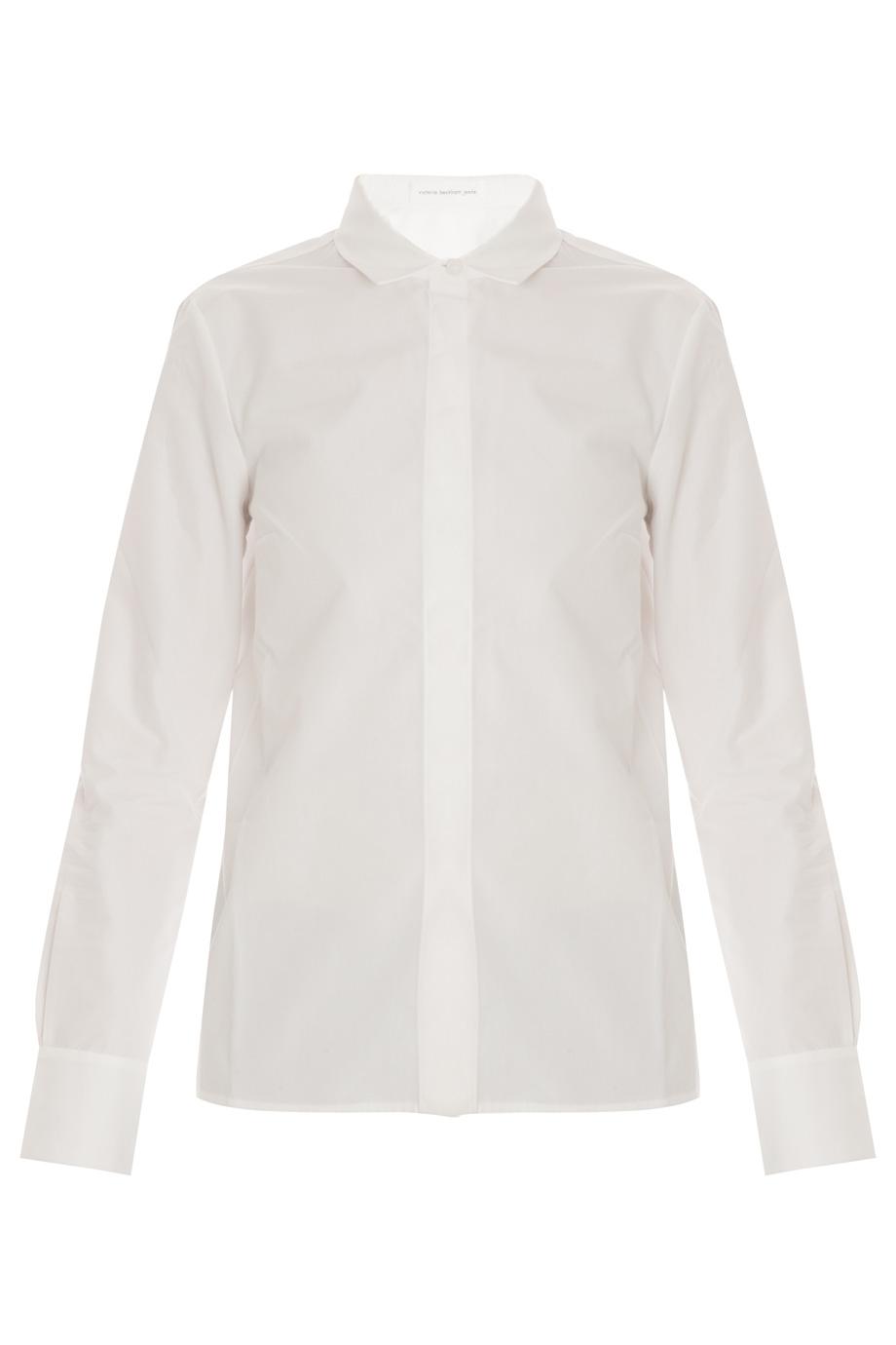 Victoria Beckham Cotton Sports Shirt In White Lyst