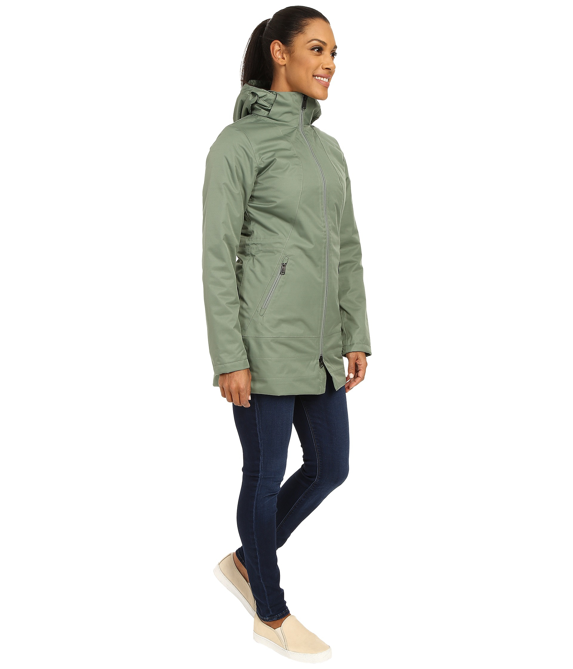 The North Face Insulated Ancha Parka In Green Lyst