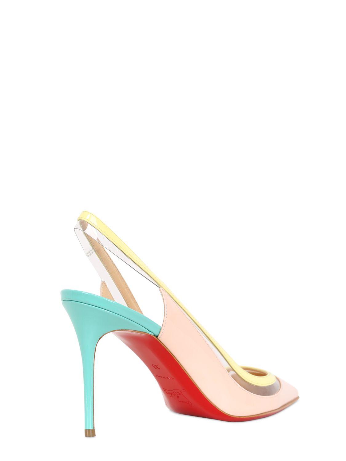 red christian louboutin men shoes - christian louboutin 100mm paulina pumps - Bavilon Salon