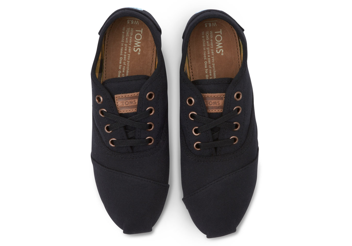75a553e70fd3 Lyst - TOMS Black Canvas Women s Cordones in Black