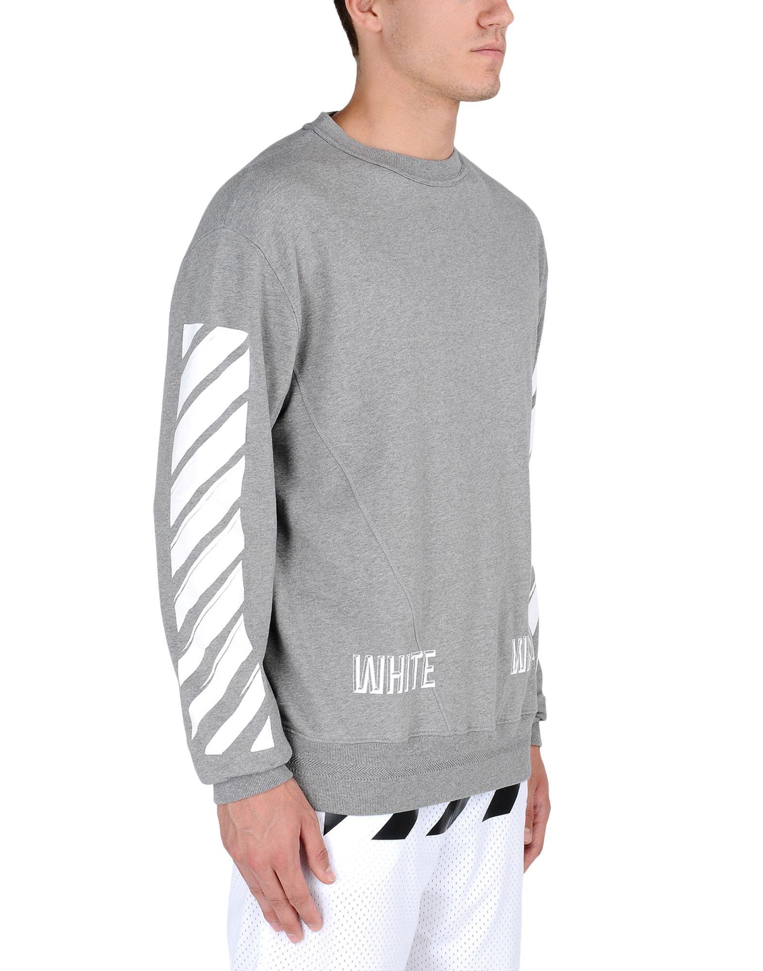Off-white c/o virgil abloh Striped Cotton Sweatshirt in ...