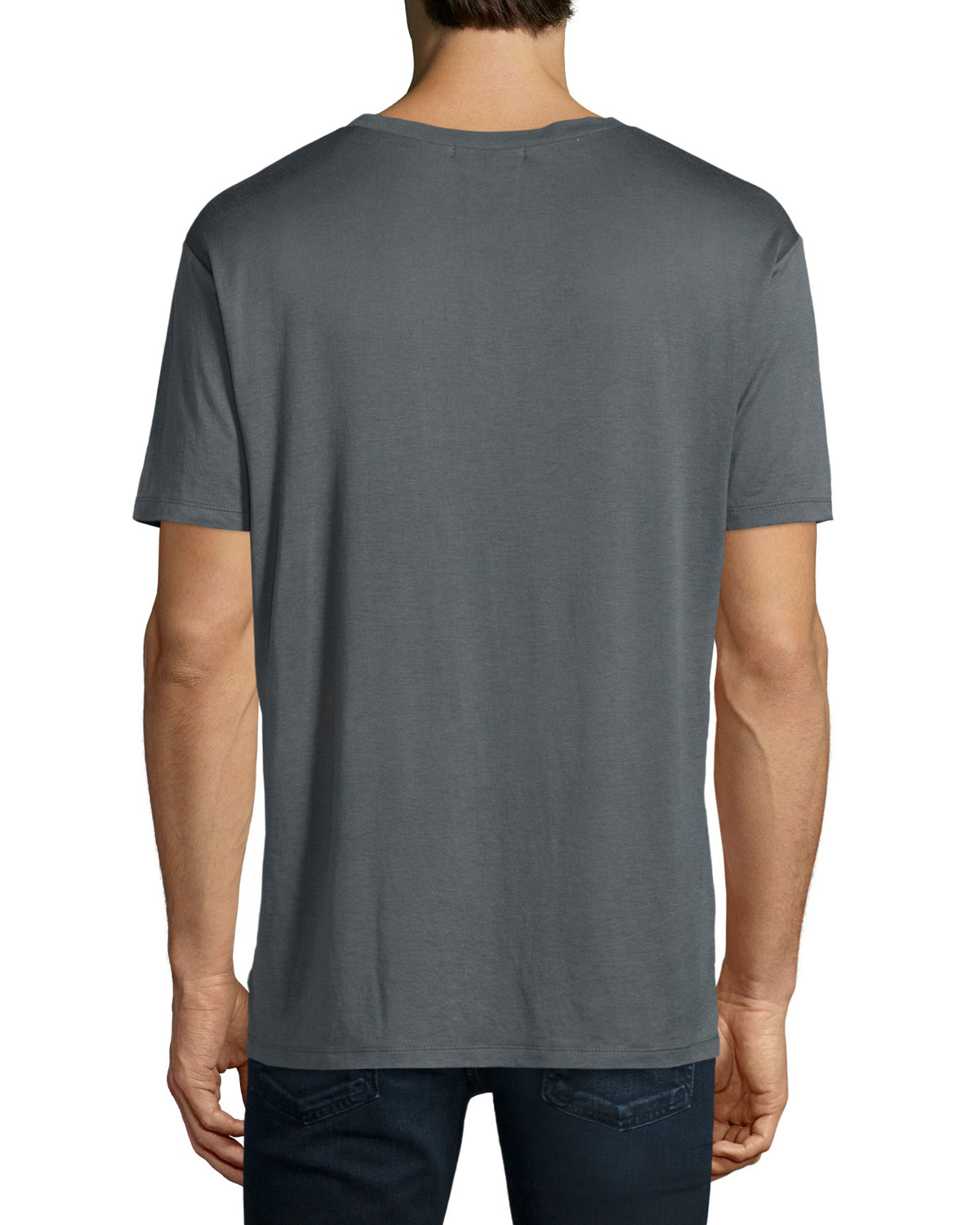Alexander Wang Short Sleeve Jersey T Shirt In Gray For Men