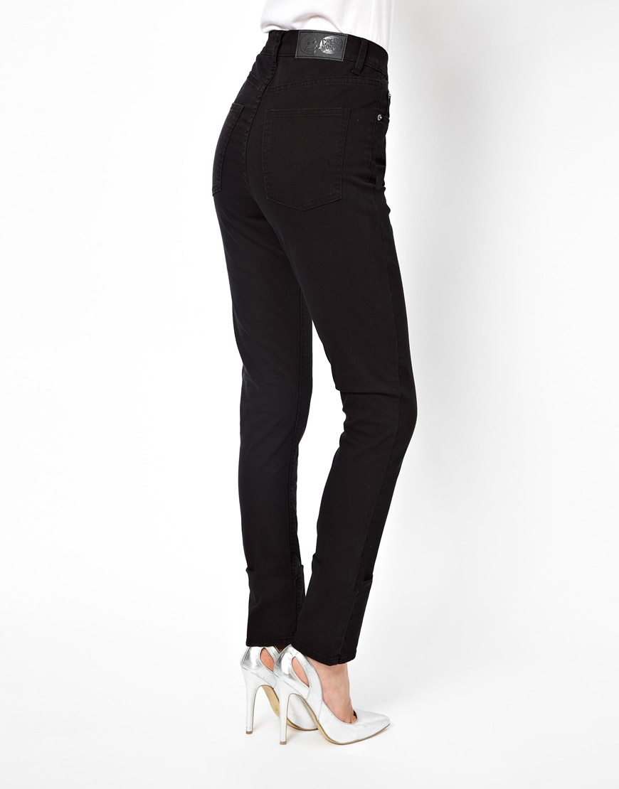 Cheap monday Second Skin High Waist Skinny Jeans in Black   Lyst