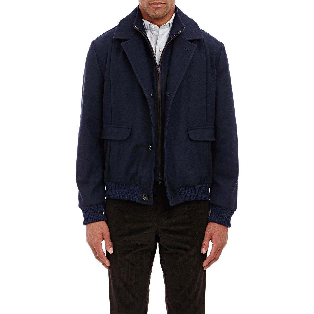 Kiton Men's Bomber Jacket in Blue for Men