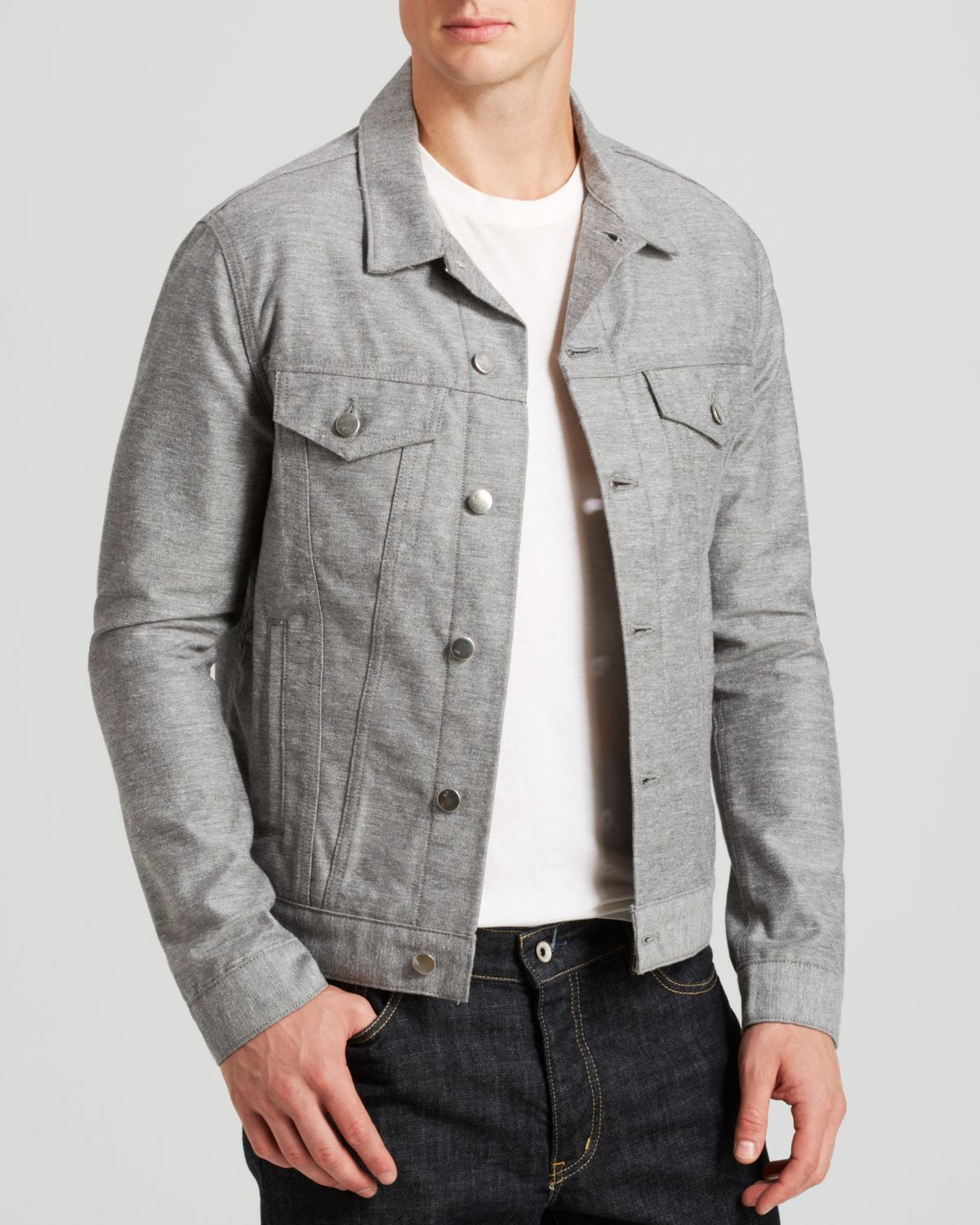 Lyst - J Brand Denim Jacket in Gray for Men