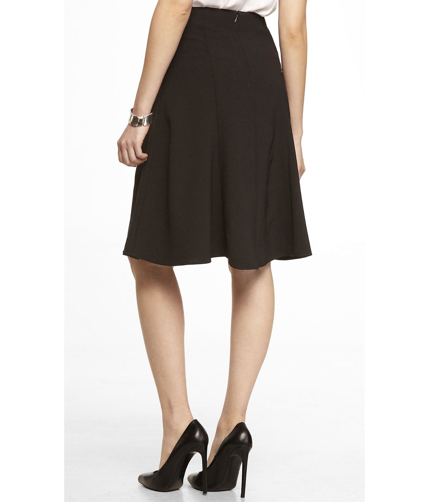 Black Fit And Flare Skirt - Skirts