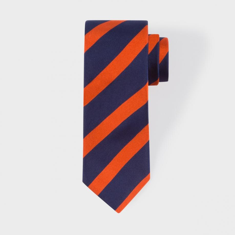 how to wear a blue and orange tie