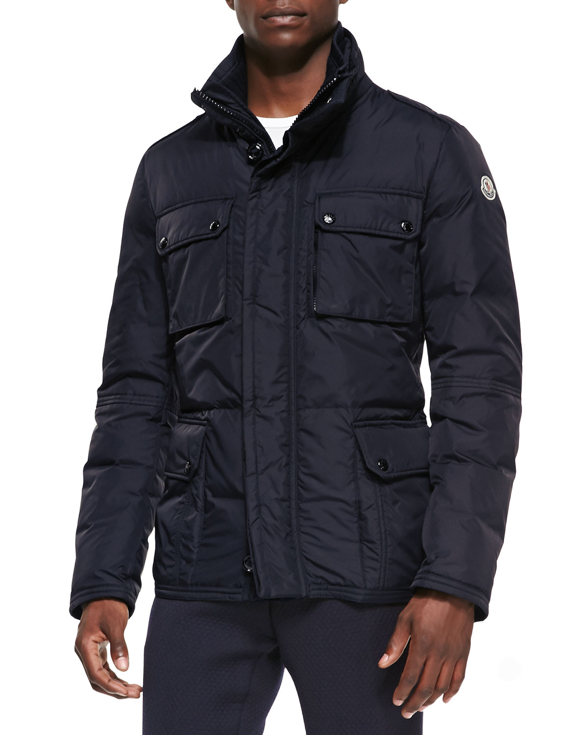 Moncler Amazonne Quilted Field Jacket In Black For Men