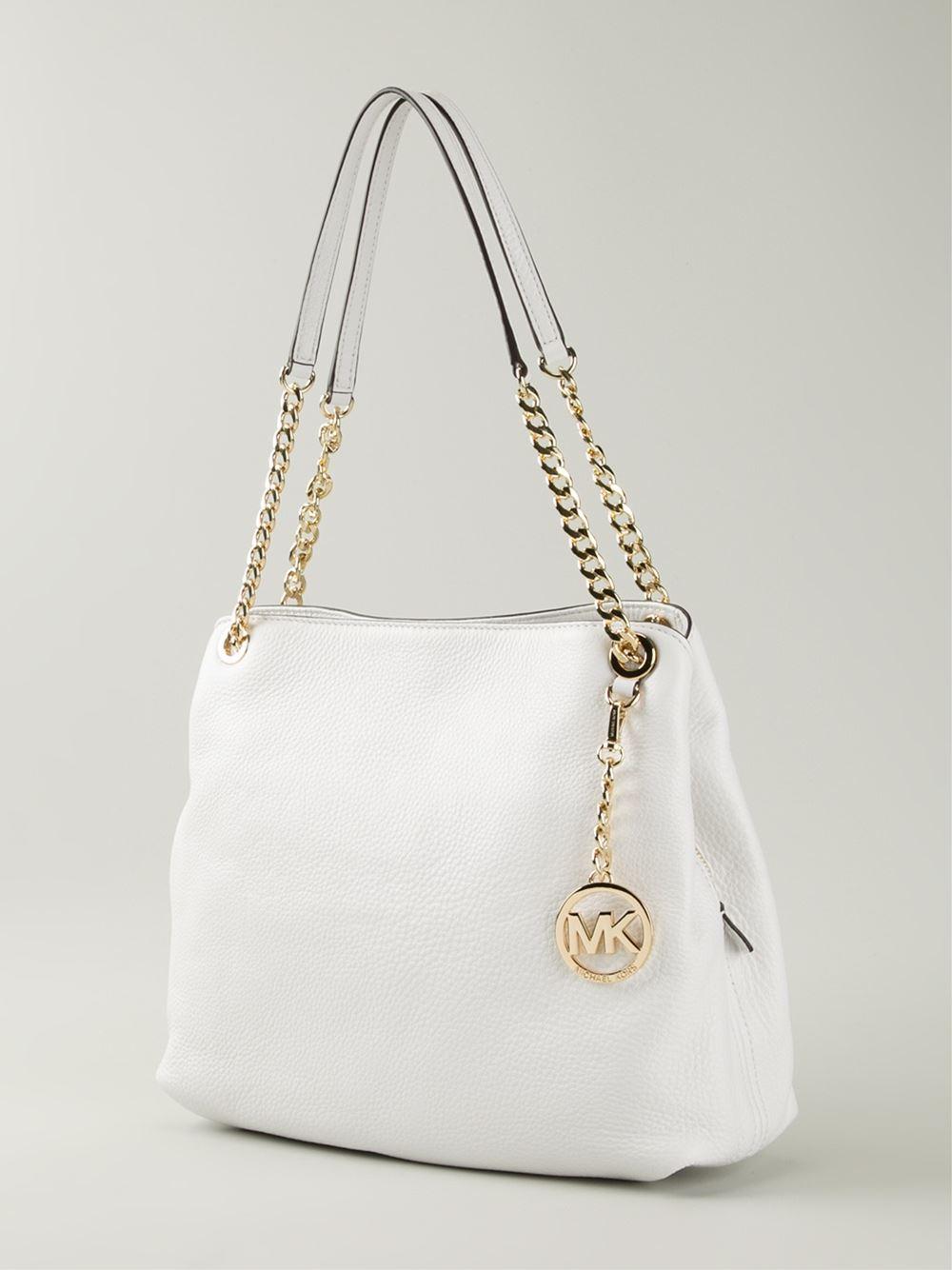 Lyst - MICHAEL Michael Kors Jet Set Chain Shoulder Bag in White