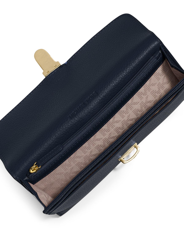 20d96ab65b4a Lyst - MICHAEL Michael Kors Charlton Leather Flap Wallet in Black
