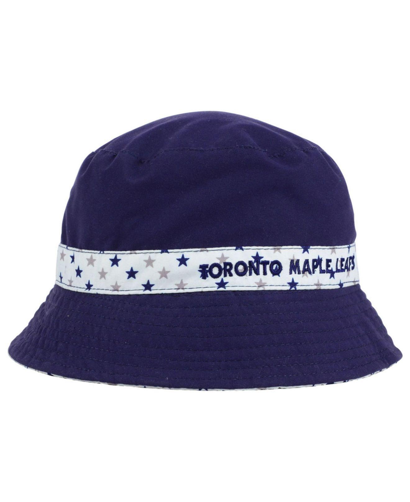 92a5d5c625b2a Lyst - KTZ Kids  Toronto Maple Leafs Reversible Bucket Hat in Blue