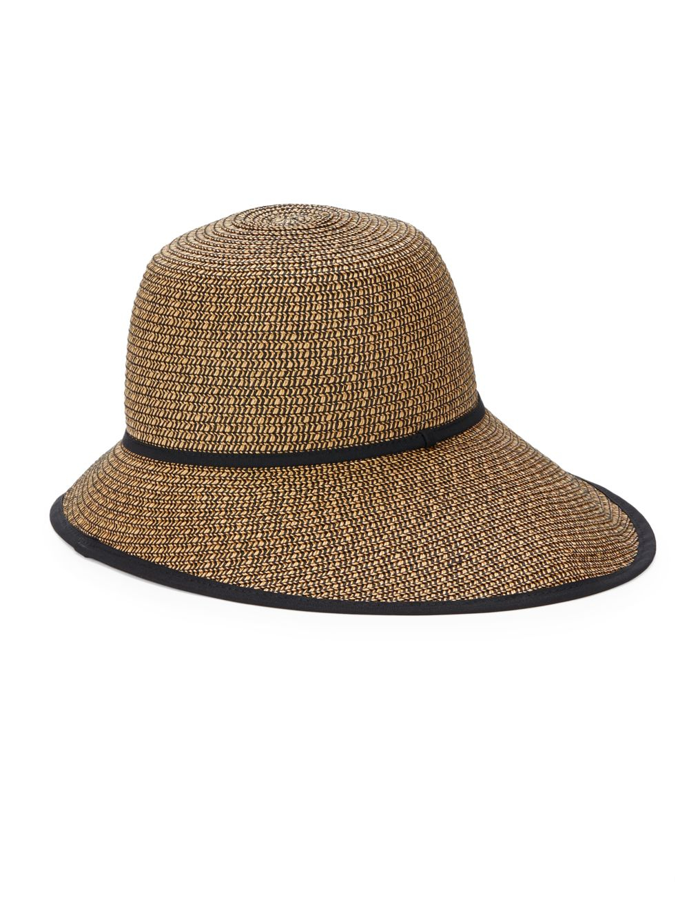 Saks Fifth Avenue Vintage Sun Hat in Brown - Lyst 05a68f64edf