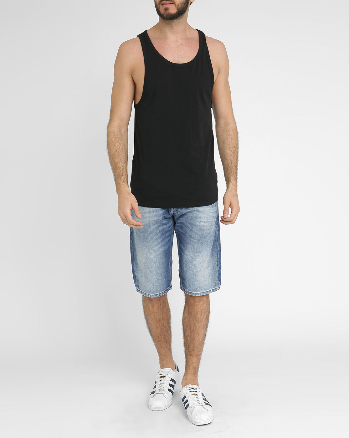 jack jones black jjortimesquare tank top for men lyst. Black Bedroom Furniture Sets. Home Design Ideas