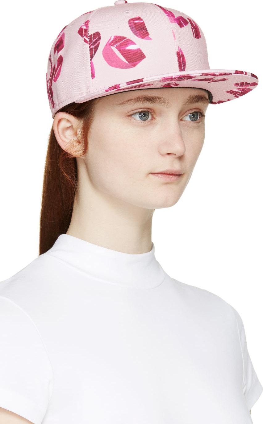 Lyst - KENZO Pink Metallic Curls New Era Edition Cap in Pink e6fa488ff2