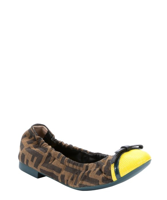 Fendi Zucca Cap-Toe Flats buy cheap genuine outlet pick a best outlet low shipping outlet online 8B5XlA34iG