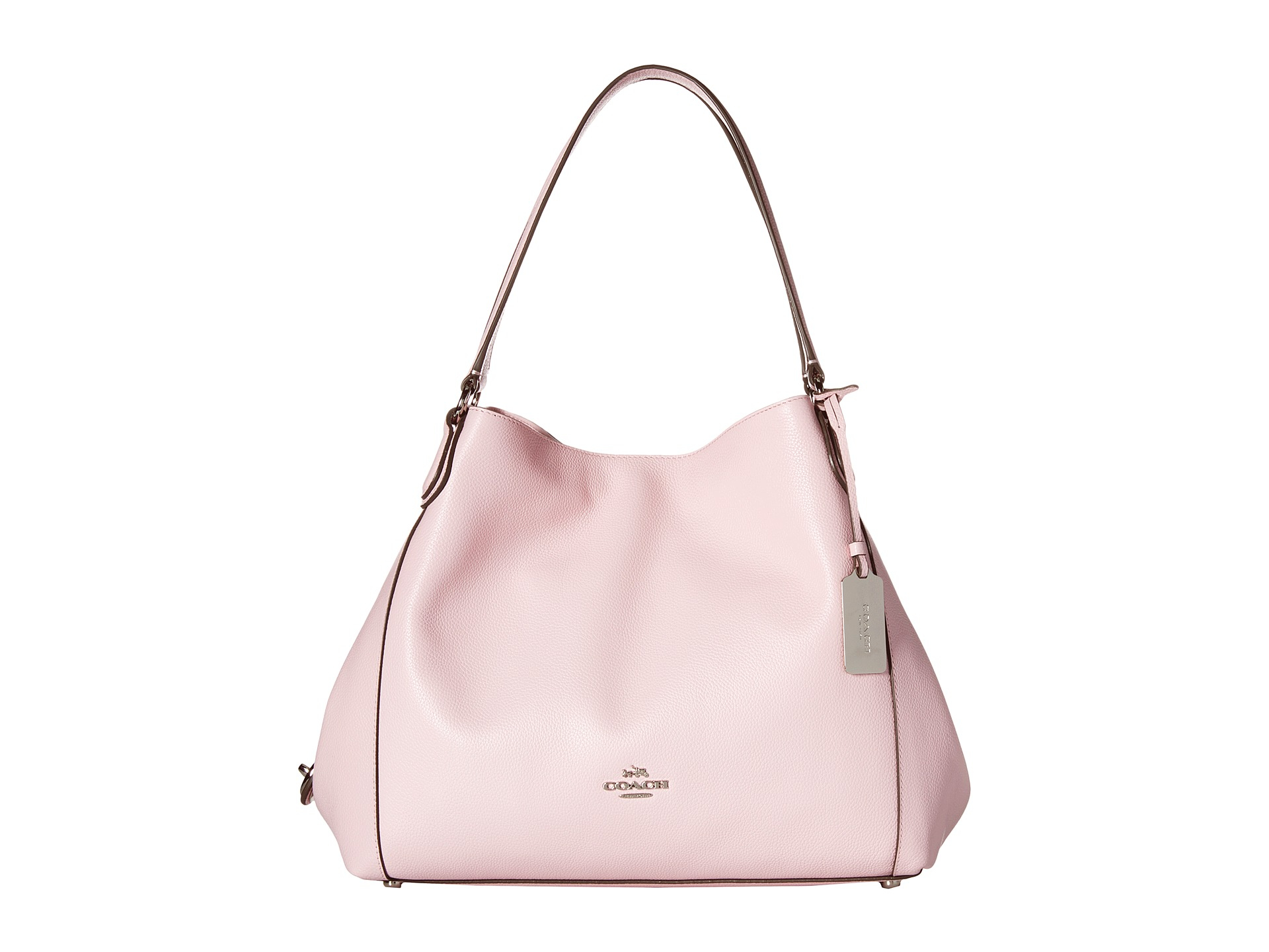 699709fcd0b5 ... buy lyst coach refined pebble leather edie 31 shoulder bag in pink  3822d 3e8a9