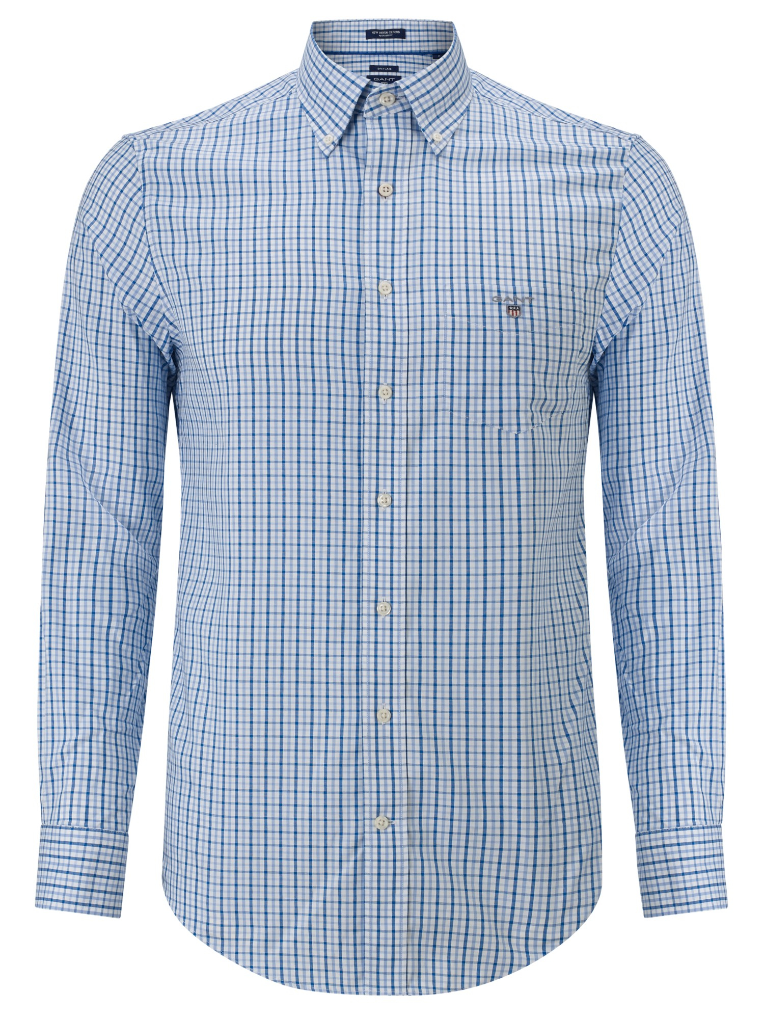 Gant Button Down Gingham Shirt In Blue For Men Lyst