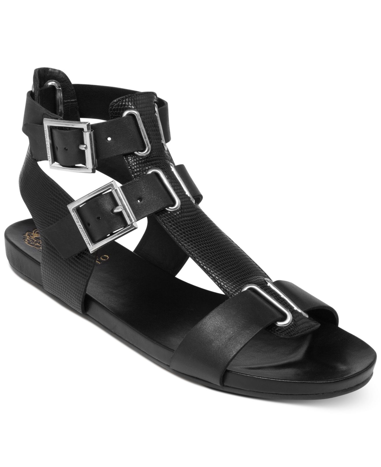 Vince Camuto Pixe Footbed Sandals In Black Lyst