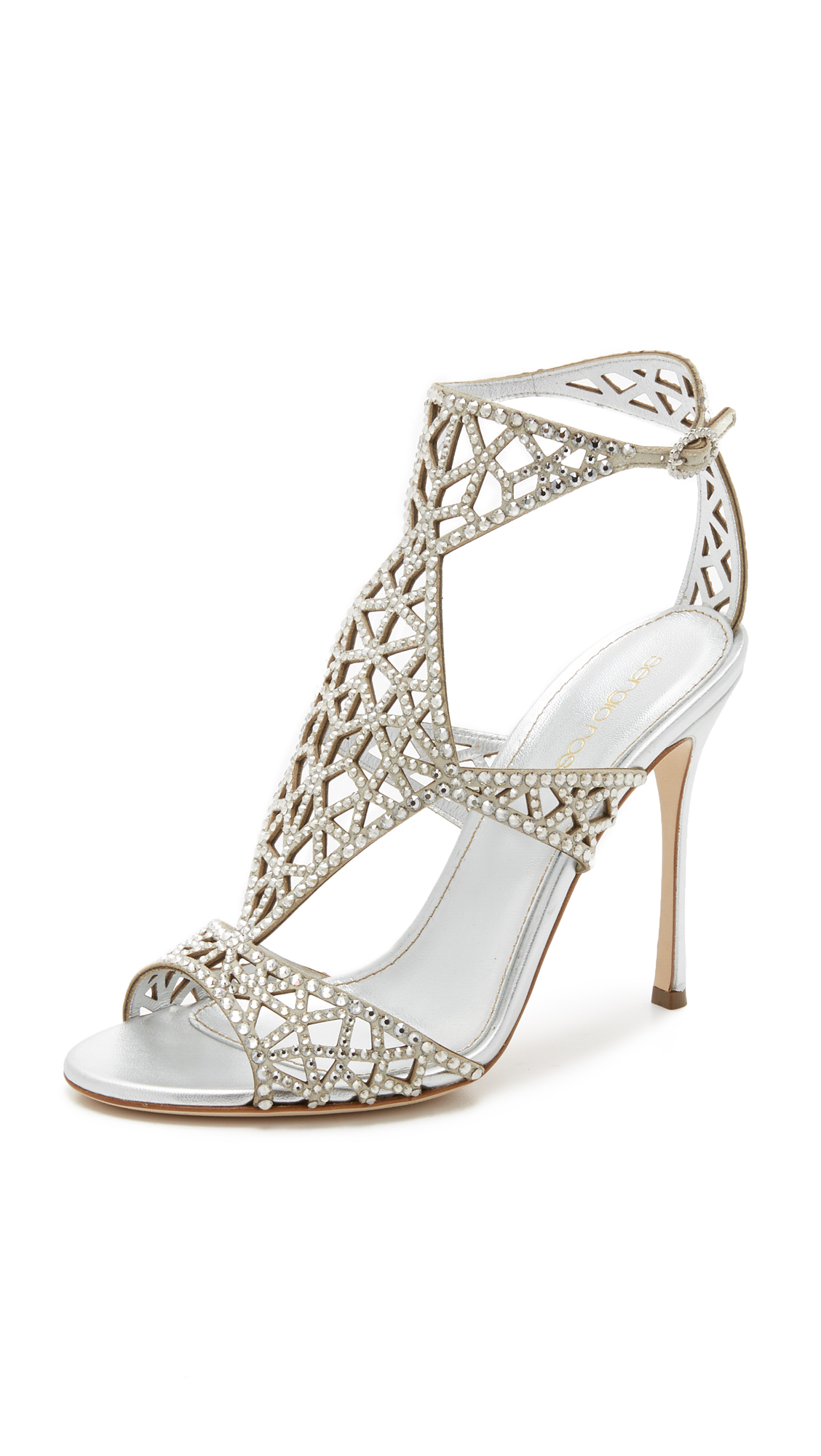 online shop from china Sergio Rossi Snakeskin Cutout Sandals w/ Tags cheap real authentic amazon sale extremely free shipping 100% guaranteed SCKig2ocVA