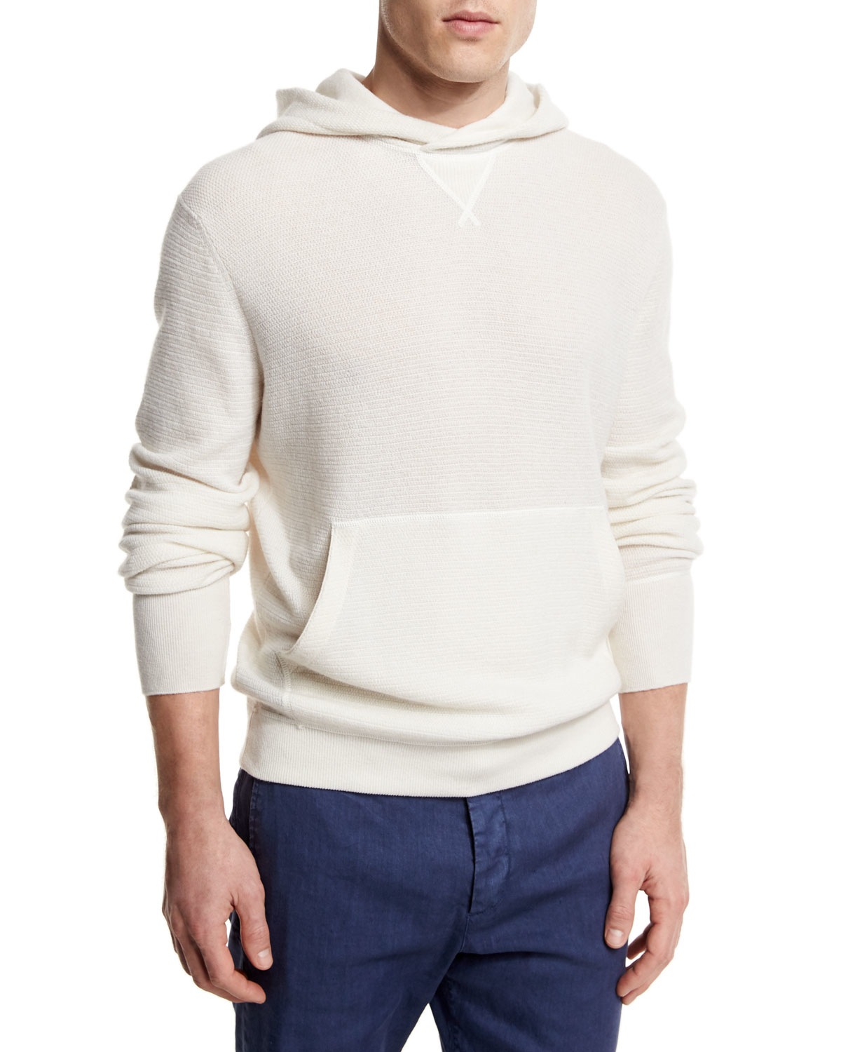 Ermenegildo zegna Cashmere Hooded Pullover Sweater in White for ...