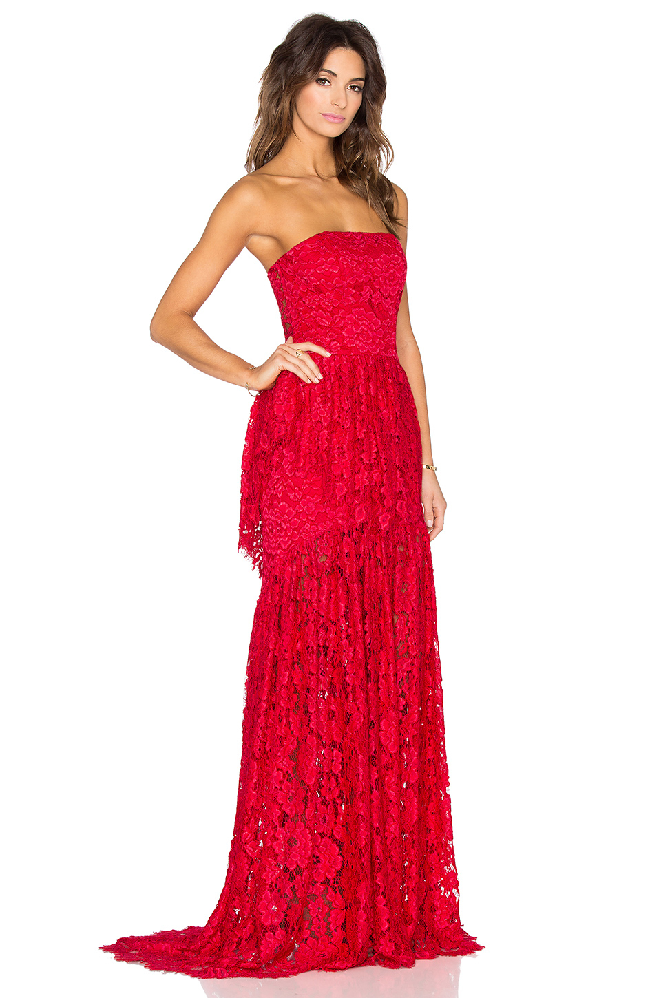 Alexis Sylvia Maxi Dress in Red | Lyst