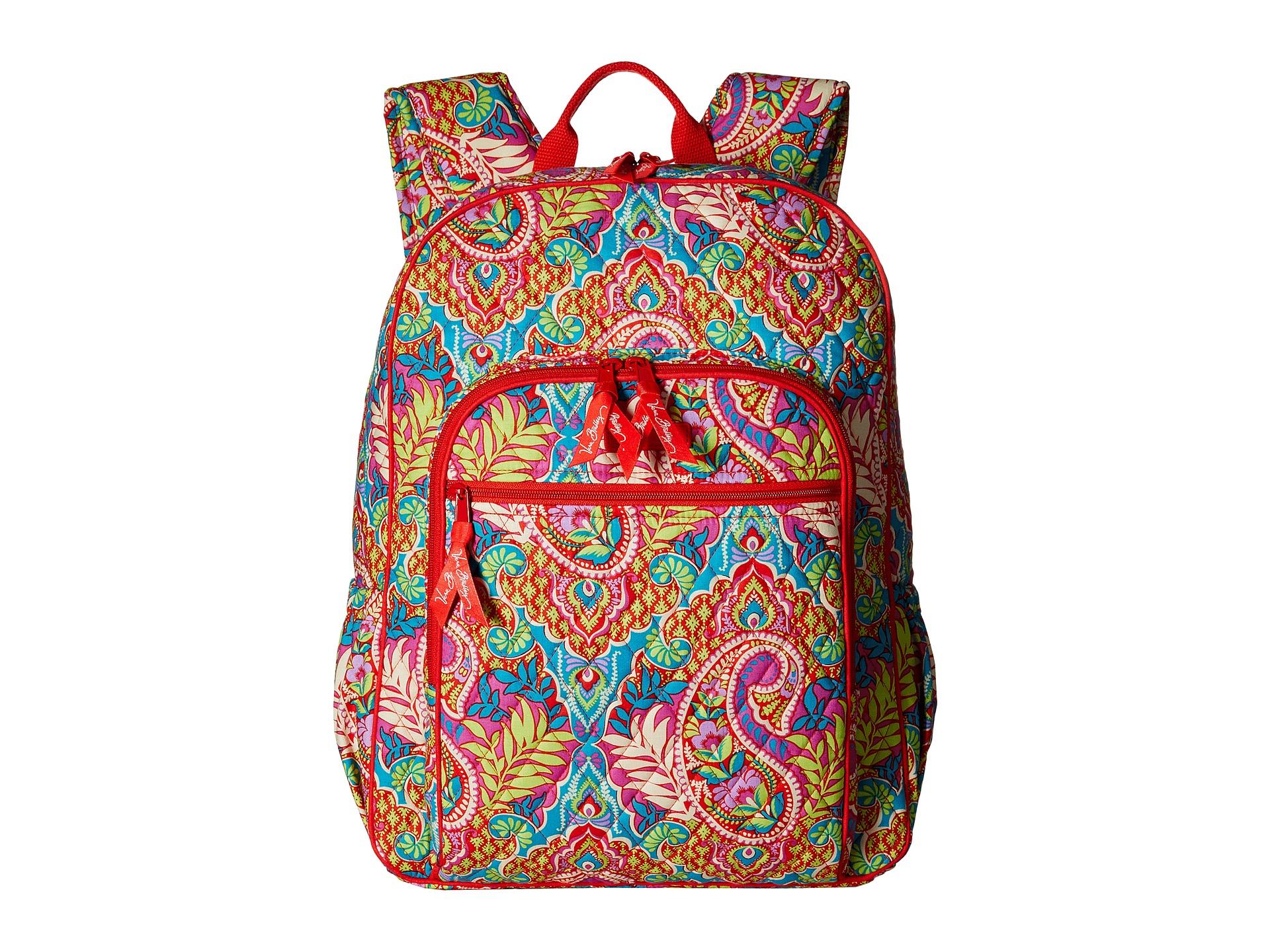 9c8f12c3a1e2 Lyst - Vera Bradley Campus Backpack in Red