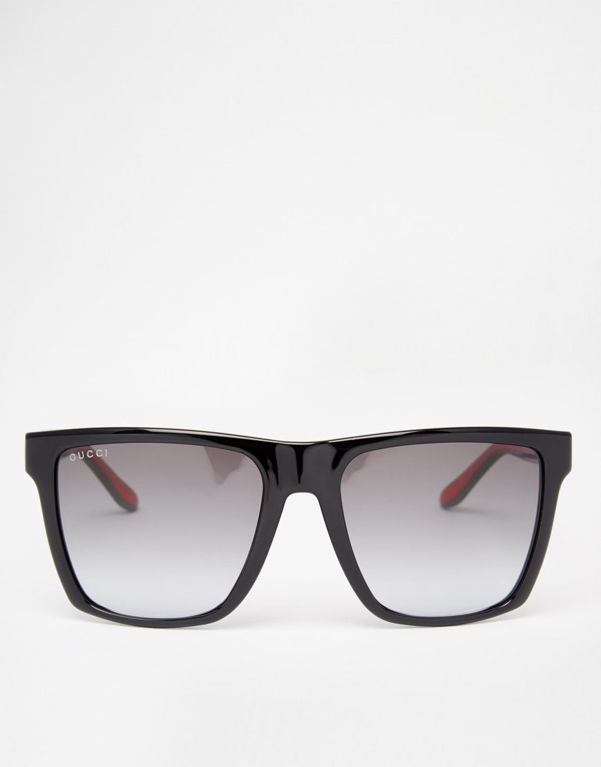 c2c884ca74 Lyst - Gucci Wayfarer Style Sunglasses in Black for Men