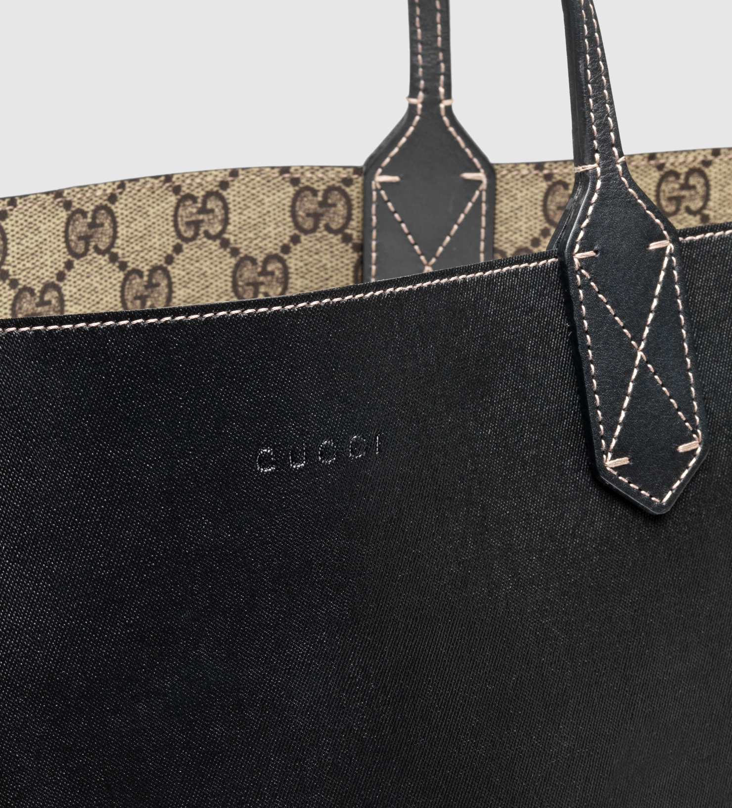 65fc1e847e7b Gucci Black Reversible Tote | Stanford Center for Opportunity Policy ...