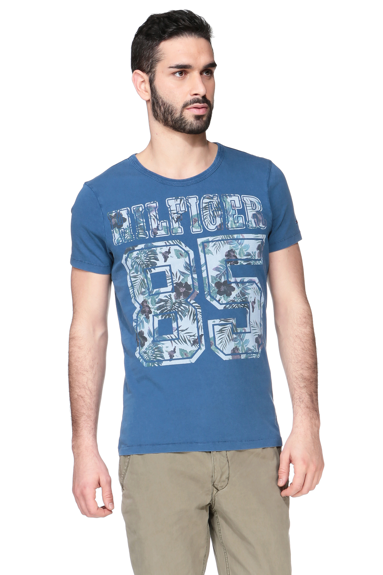 hilfiger denim blue short sleeve t shirt 1957870367 fletcher cn tee ss. Black Bedroom Furniture Sets. Home Design Ideas