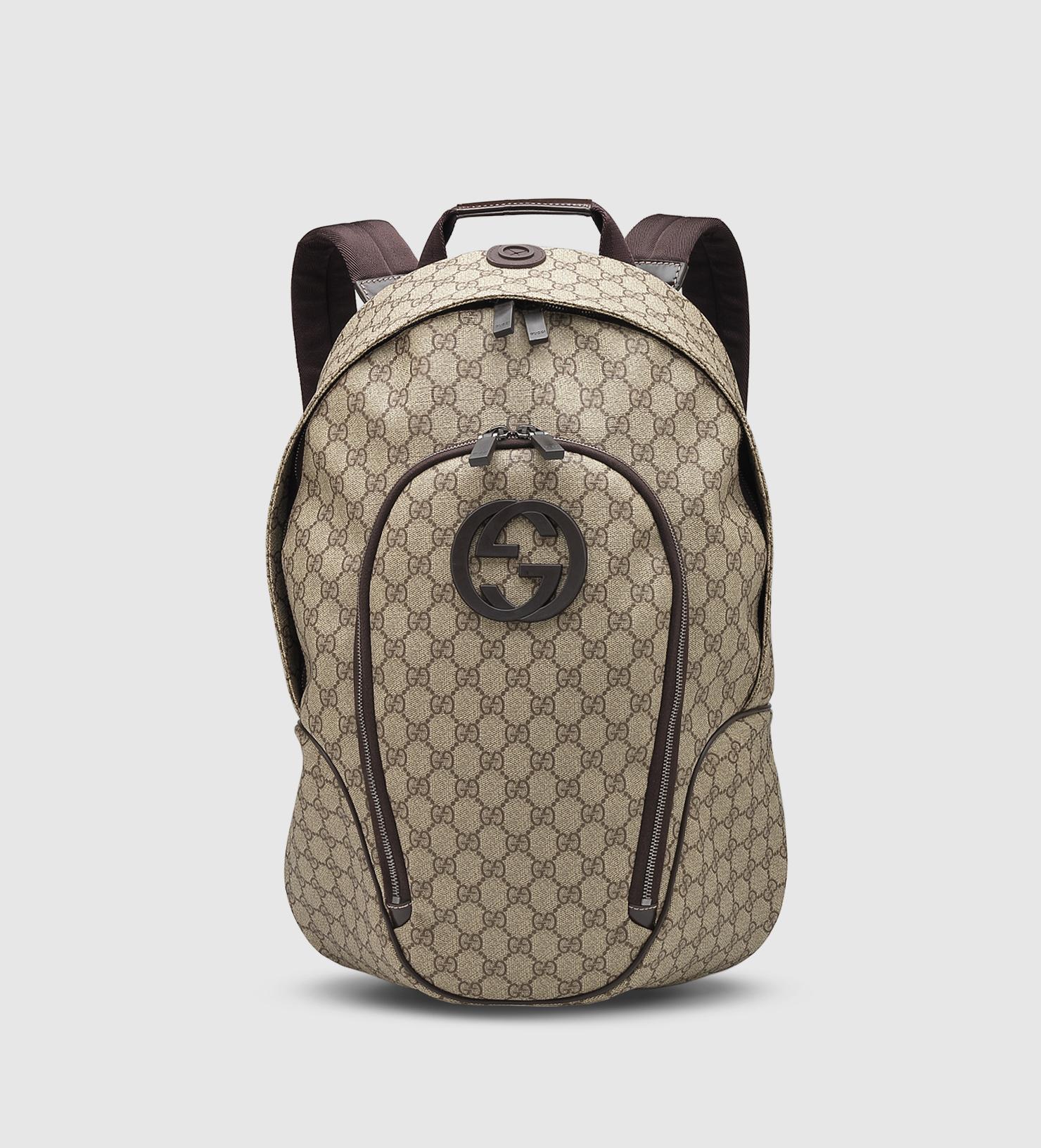... authentic faff7 87e06 Lyst - Gucci Gg Supreme Canvas Interlocking G  Backpack in Na ... 1ea0a1c584