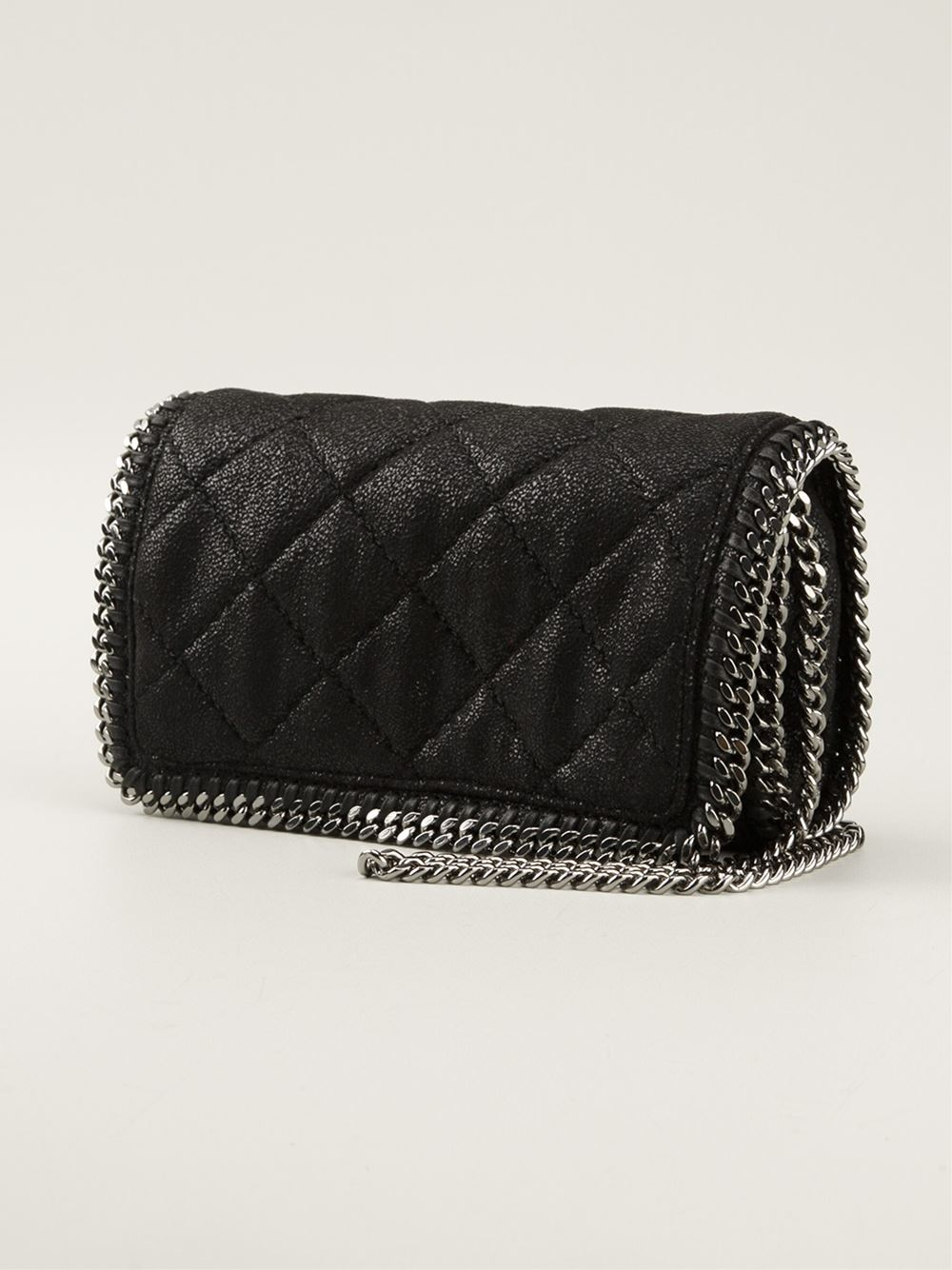 Lyst - Stella mccartney Quilted Falabella Cross Body Bag in Black : stella mccartney quilted bag - Adamdwight.com