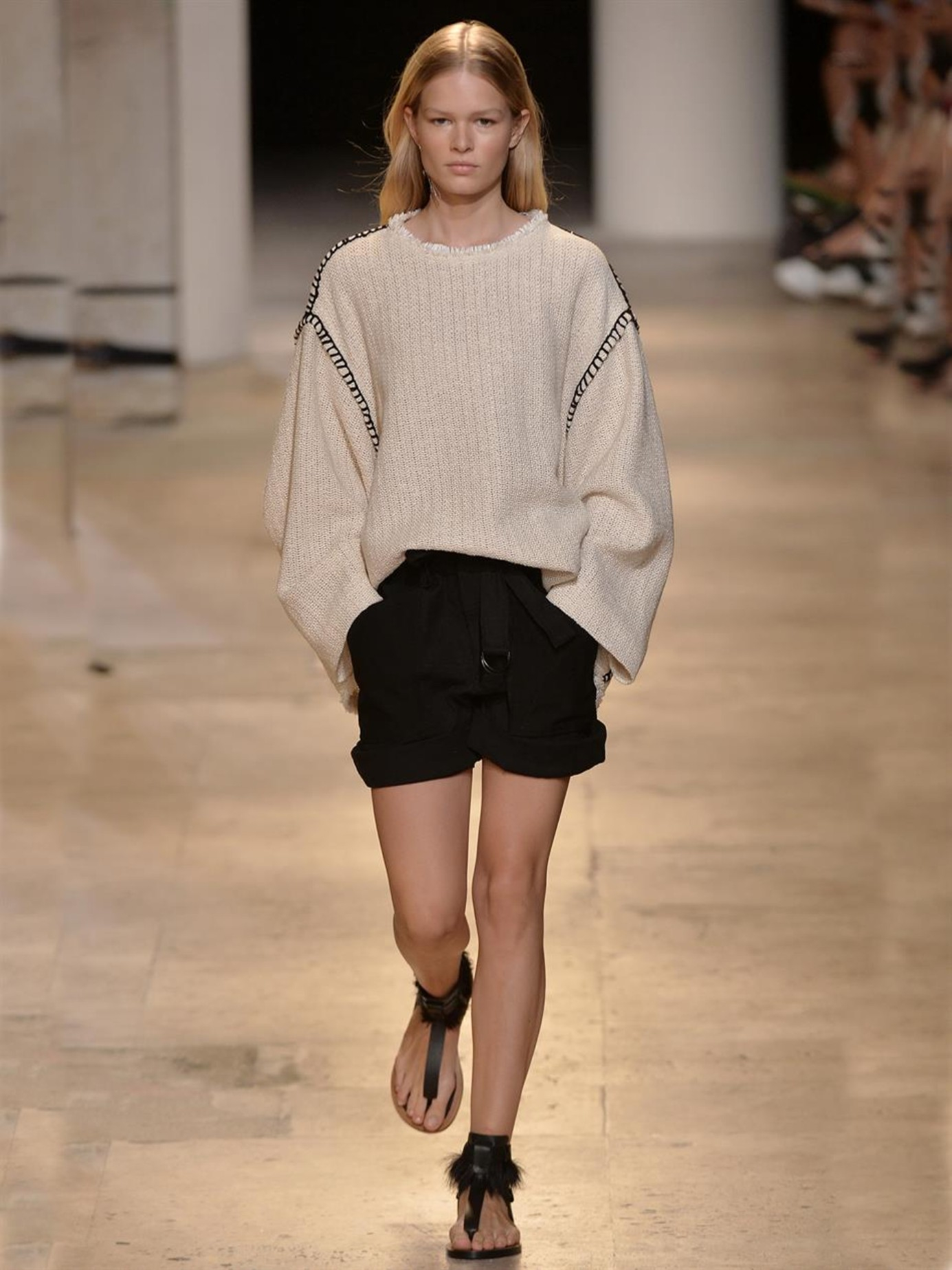 Isabel marant Elmy Oversized Sweater in Natural | Lyst