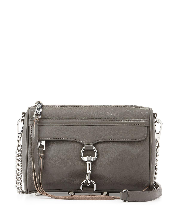 Rebecca Minkoff Mini Mac Crossbody Bag In Gray Charcoal