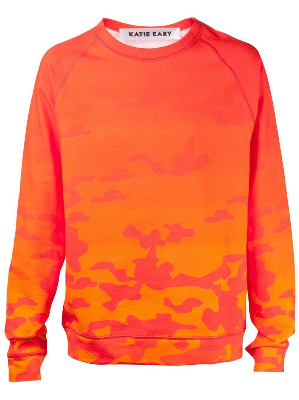 Katie eary Camouflage Sweater in Orange for Men | Lyst