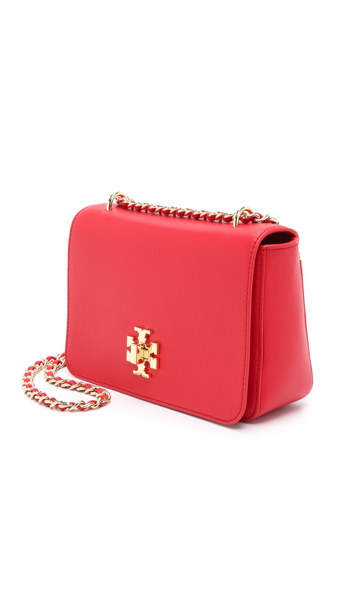92aa0abe8 Lyst - Tory Burch Mercer Adjustable Shoulder Bag - Vermillion in Red