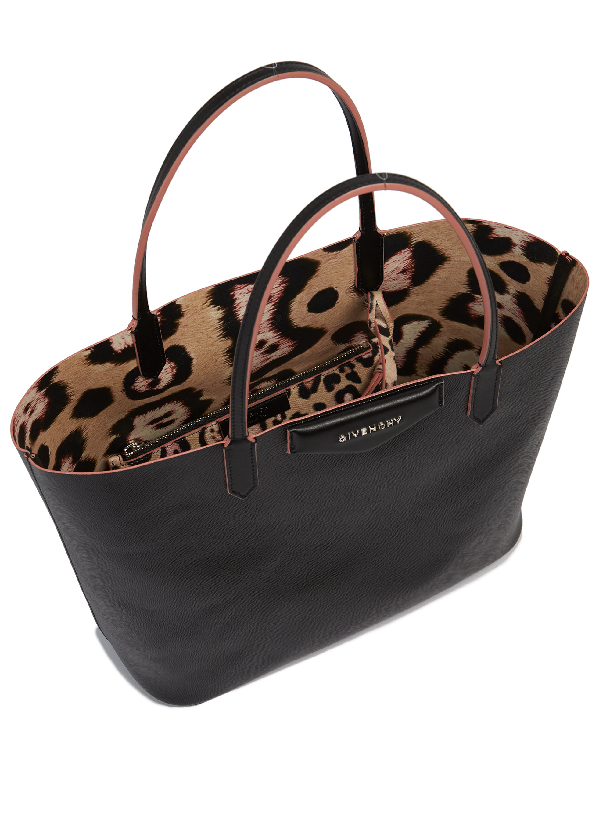 b823a23c957c Lyst - Givenchy Antigona Small Coated Canvas Tote in Black